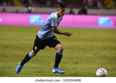 SAN JOSE, COSTA RICA - SEPTEMBER 06 2019: Brian Rodriguez during friendly match between Costa Rica and Uruguay national teams. Uruguay defeated Costa Rica 1-2.