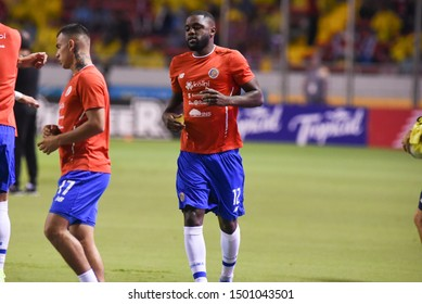 SAN JOSE, COSTA RICA - SEPTEMBER 06 2019: Joel Campbell during friendly match between Costa Rica and Uruguay national teams. Uruguay defeated Costa Rica 1-2.