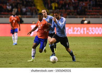 SAN JOSE, COSTA RICA - SEPTEMBER 06 2019: Allan Cruz during friendly match between Costa Rica and Uruguay national teams. Uruguay defeated Costa Rica 1-2.