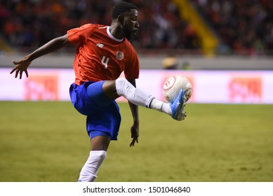 SAN JOSE, COSTA RICA - SEPTEMBER 06 2019: Keysher Fuller during friendly match between Costa Rica and Uruguay national teams. Uruguay defeated Costa Rica 1-2.
