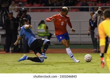 SAN JOSE, COSTA RICA - SEPTEMBER 06 2019: Ariel Lassiter during friendly match between Costa Rica and Uruguay national teams. Uruguay defeated Costa Rica 1-2.
