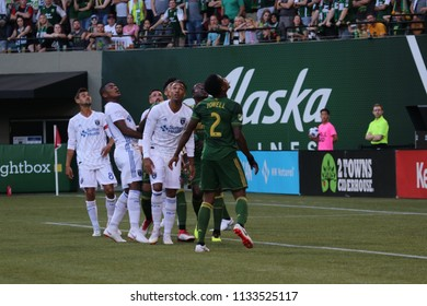 San Jose Earthquakes vs the Portland Timbers at Providence in Portland Oregon USA July 7,2018.