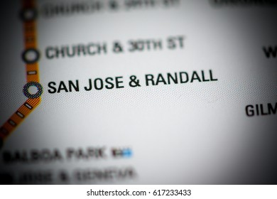 San Jose & Randall Station. San Francisco Metro map.