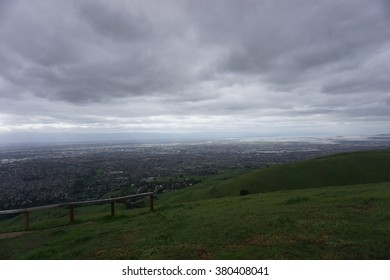 San jose and sf south bay area seen from sierra vista osp
