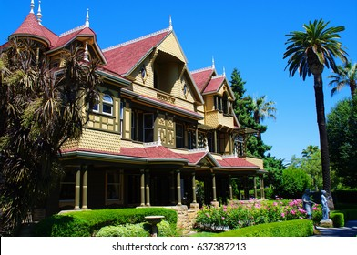 San Jose, USA, Jul 2011: The Winchester Mystery House is a mansion in San Jose, California, which was once the personal residence of Sarah Winchester, the widow of gun magnate William Wirt Winchester.