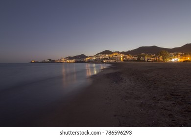 San Jose village by dusk in Cabo de Gata Almeria Spain