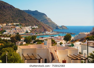 San Jose white village, in Cabo de Gata - Nijar Natural Park, Almeria, Andalusia, southern Spain