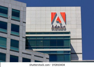 SAN JOSE,CA/USA - MAY 11, 2014: Adobe Systems headquarters in Silicon Valley.  Adobe is a multinational software company that produces and sells multimedia and creativity software.
