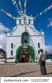 SAN JUAN CHAMULA, CHIAPAS, MEXICO - JUNE 23, 2018: San Juan Chamula preserves a unique and thriving culture greatly admired by the few foreign travelers that adventure to this part of Mexico.