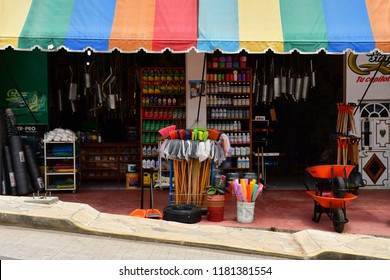 San Juan de Chamula; United Mexican States - may 15 2018 : shop in city centre