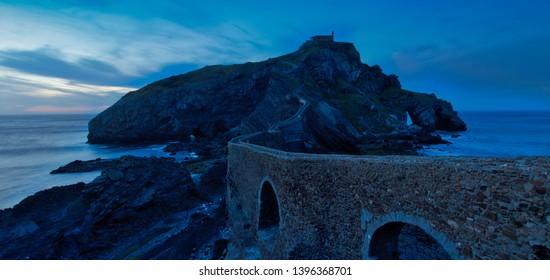 San Juan de Gaztelugatxe between Bakio and Bermeo in the province of Vizcaya, in the Basque Country