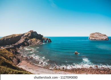 San juan de gaztelugatxe island and church in Bermeo, Basque country, Spain
