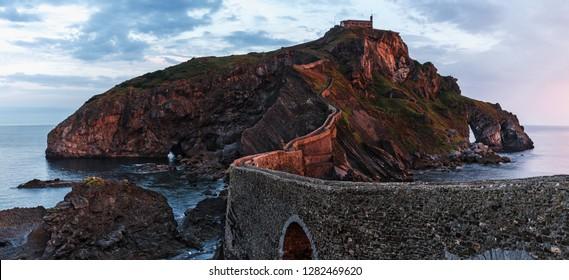 San Juan de Gaztelugatxe island at basque country, Spain