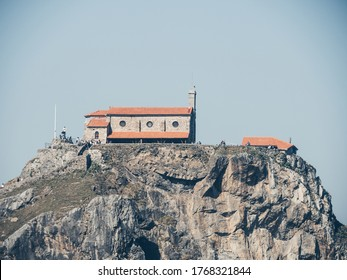 SAN JUAN DE GAZTELUGATXE, SPAIN - 23 FEBRUARY, 2020: hermitage in the coast of Bermeo, Basque Country. HBO filmed scenes for Game of Thrones here.