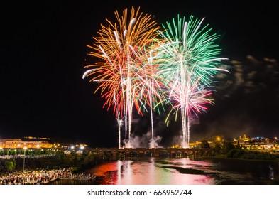 San Juan Fireworks 2017, Badajoz, Extremadura, Spain