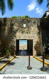 San Juan Gate (Puerta de San Juan), San Juan, Puerto Rico. Puerta de San Juan was built in the late 1700s to protect the city from invaders.