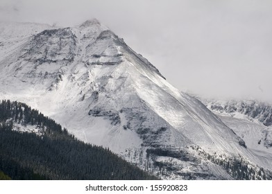 The San Juan Mountain range in Colorado starts early with its first snow fall/San Juan Mountains/From Lizards Head Pass, at ten thousand feet, this blizzard is a frenzy of excitement for skiers.