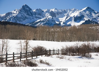 San Juan Mountains in winter