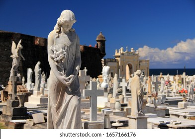 SAN JUAN, PR – OCTOBER 26: Santa Maria Magdalena de Pazzis Cemetery is a popular tourist attraction located in the city of San Juan, Puerto Rico October 26, 2019 in San Juan, Puerto Rico