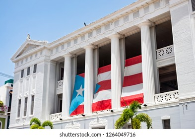 SAN JUAN, PUERTO RICO –AUGUST 4, 2018: Carlos Albizu University in the heart of San Juan is the first independent professional school of psychology in North America.