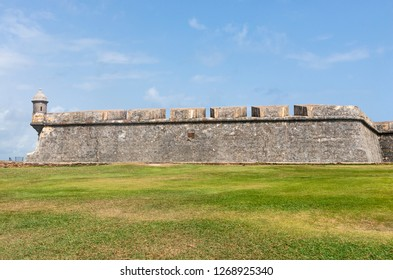 SAN JUAN, PUERTO RICO –AUGUST 4, 2018:  Fort San Felipe del Morro in Old San Juan is a UNESCO World Heritage Site. Over two million visitors a year explore the fortress.