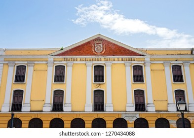 SAN JUAN, PUERTO RICO –AUGUST 4, 2018:  The Tapia Theater is the oldest permanent theater of Puerto Rico. It was inaugurated in the year 1832.