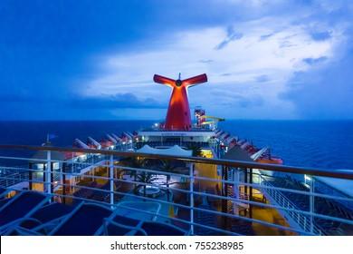 San Juan, Puerto Rico - May 09, 2016: The Carnival Cruise Ship Fascination at the Caribbean Sea