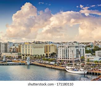 San Juan, Puerto Rico Old City skyline.