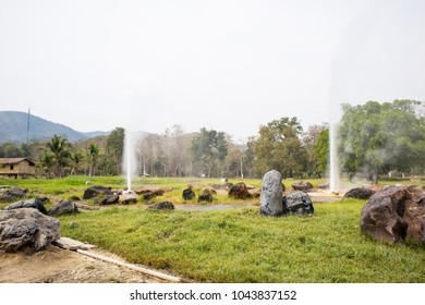 San Kamphaeng hot springs in Chiang Mai , Thailand