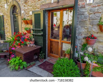San Leo, Italy - June 18, 2017: Architecture old city in San Leo, Italy