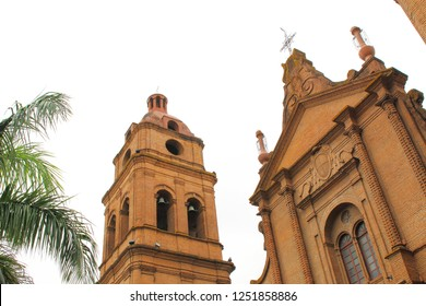 San Lorenzo cathedral in Santa Cruz de la Sierra, Bolivia. during summer time.