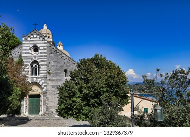 San Lorenzo Church in Portovenere (Porto Venere) is an ancient church in this Italian village.  This historic landmark is a popular vacation destination.