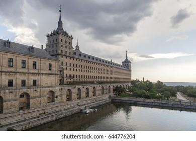 SAN LORENZO DE EL ESCORIAL,SPAIN-JULY 22,2015: El Escorial, monastery, province Madrid, Spain.