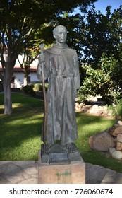 San Luis Obispo, CA. U.S.A. December 5, 2017. San Luís Obispo de Tolosa. Founded in 1772 by Father Junípero Serra.  Sculpture of Father Junipero Serra-1713-1784