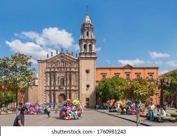 San Luis Potosi, Mexico - October 21, 2006: Templo de Nuestra Señora del Carmen, at the Plaza del Carmen.