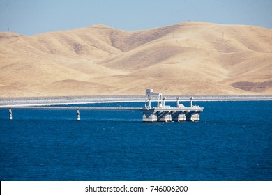 San Luis reservoir at high capacity