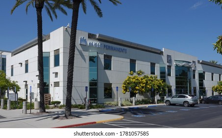 San Marcos, CA / USA - July 21, 2020: The modern medical offices of Kaiser Permanente