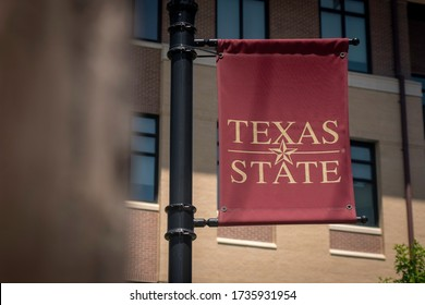San Marcos, Texas - May 19 2020: Texas State University banner