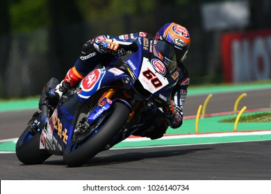 San Marino Italy - May 12: Michael van der Mark NED Yamaha YZF R1 Pata Yamaha Official Team SBK Rizla, in action during the Superbike Qualifying session on May 12, 2017 in Imola Circuit, Italy.