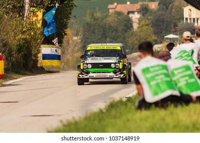 SAN MARINO - OTT 21 - 2017 : FIAT 131 ABARTH old racing car rally  historical rac
