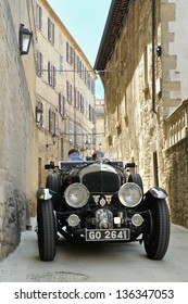 SAN MARINO RSM - MAY 18: Black 1930 Bentley 4,5 Litre Supercharged takes part to the 1000 Miglia 2012, on May 18, 2012 in San Marino