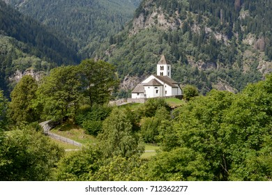 San Martino church in Calonico on Leventina valley in Switzerland