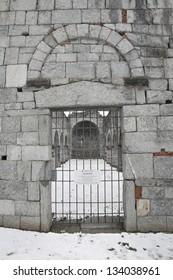 San Martino romanesque church in Gattico, Italy