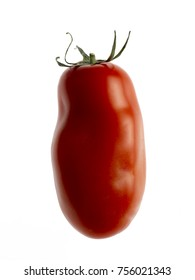 san marzano red tomato on white background 02