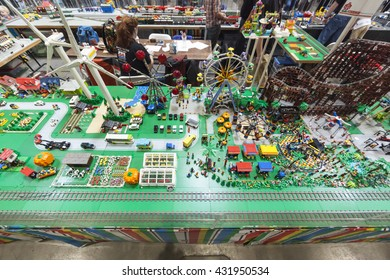 SAN MATEO, CA May 20 2016 - A Lego exhibit during the 11th annual Bay Area Maker Faire at the San Mateo County Event Center.