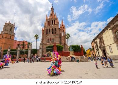 San Miguel de Allende in Central Mexico - 5 August 2018 - San Miguel de Allende, Guanajuato, Mexico