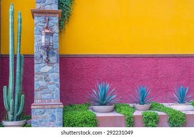 SAN MIGUEL DE ALLENDE , MEXICO - MAY 31 : Architectural details in San Miguel de Allende , Mexico on May 31 2015. The historic city San Miguel de Allende is UNESCO World Heritage Site since 2008.
