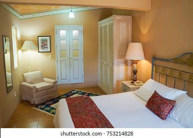 san miguel de allende, mexico - 16 JULY 2017. Interior Room of Hotel Villa Mirasol