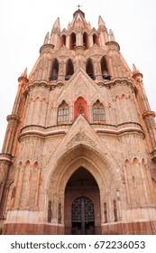 San Miguel De Allende Street-scape in Mexico - Colonial World Heritage Site