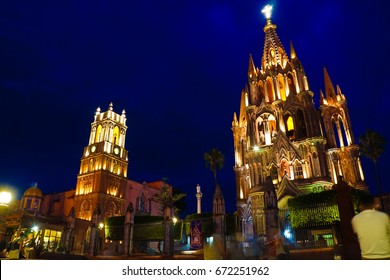 San Miguel De Allende UNESCO Site At Sunset